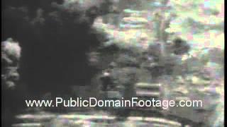U.S. Navy jet fighter bombers blast Vietnam targets newsreel archival footage