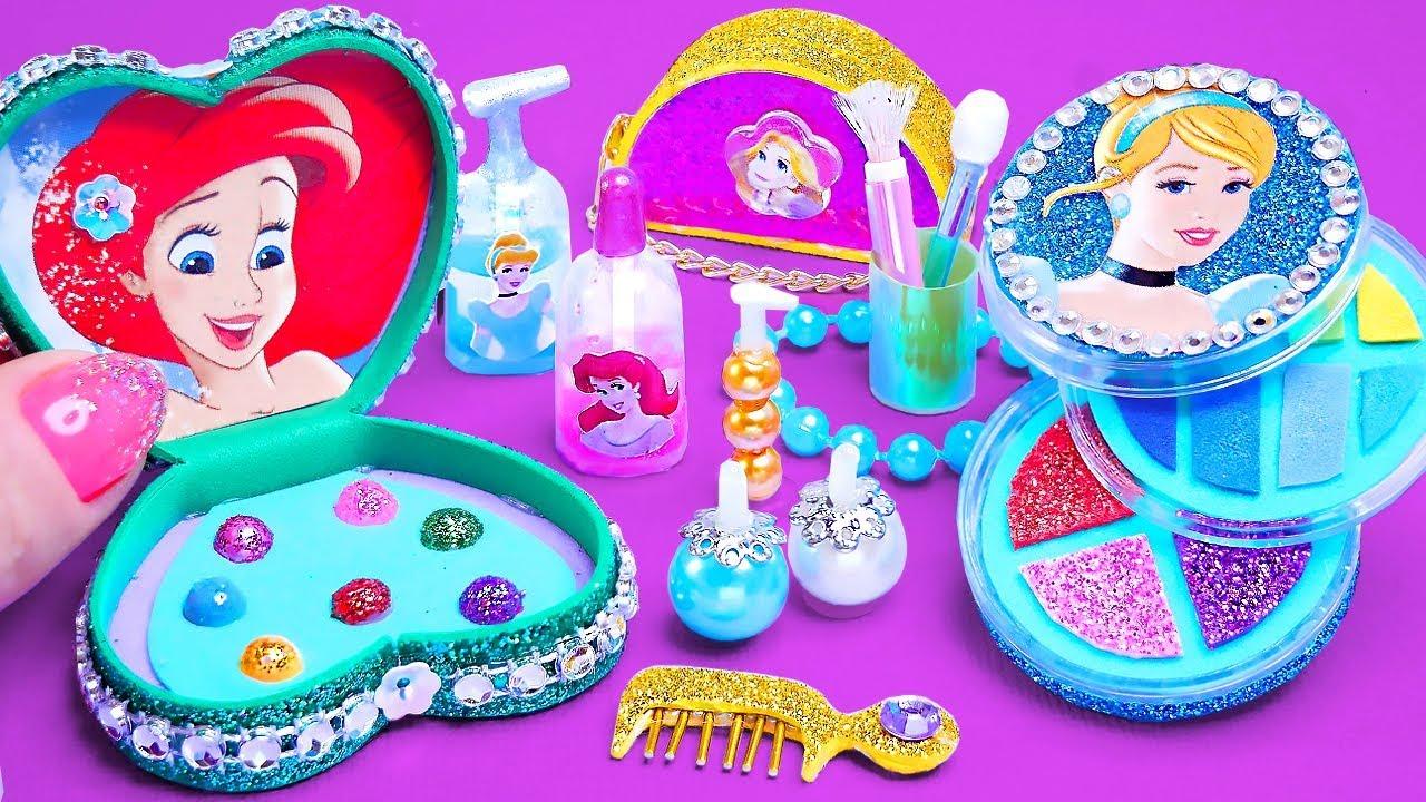 Download 12 DIY Miniature Disney Princess Makeup ~ Cinderella, Rapunzel, Ariel