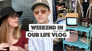 Day In Our Life Vlog   Vintage Clothes Haul   Hello Fresh Review