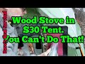 118. $30 Tent & DIY Micro Stove - Toasty Mountain Adventure!