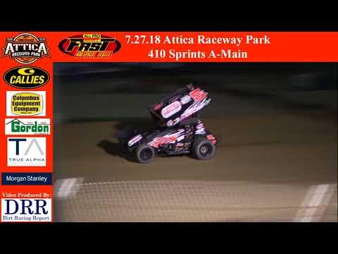 7.27.18 Attica Raceway Park 410 Sprints A-Main