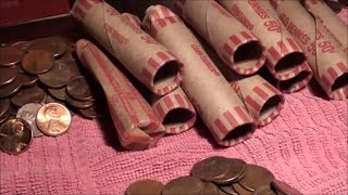 PENNY coin roll hunting FUN - looking for coins for coin collection