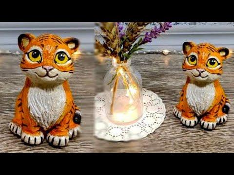 Своими руками поделки тигр