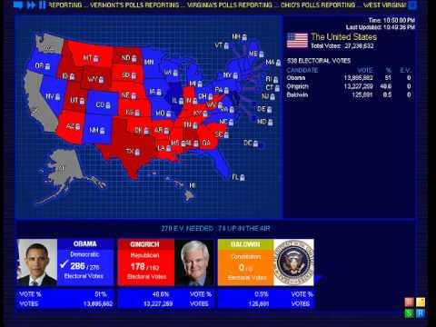 2012 Election Simulation - Obama vs. Gingrich