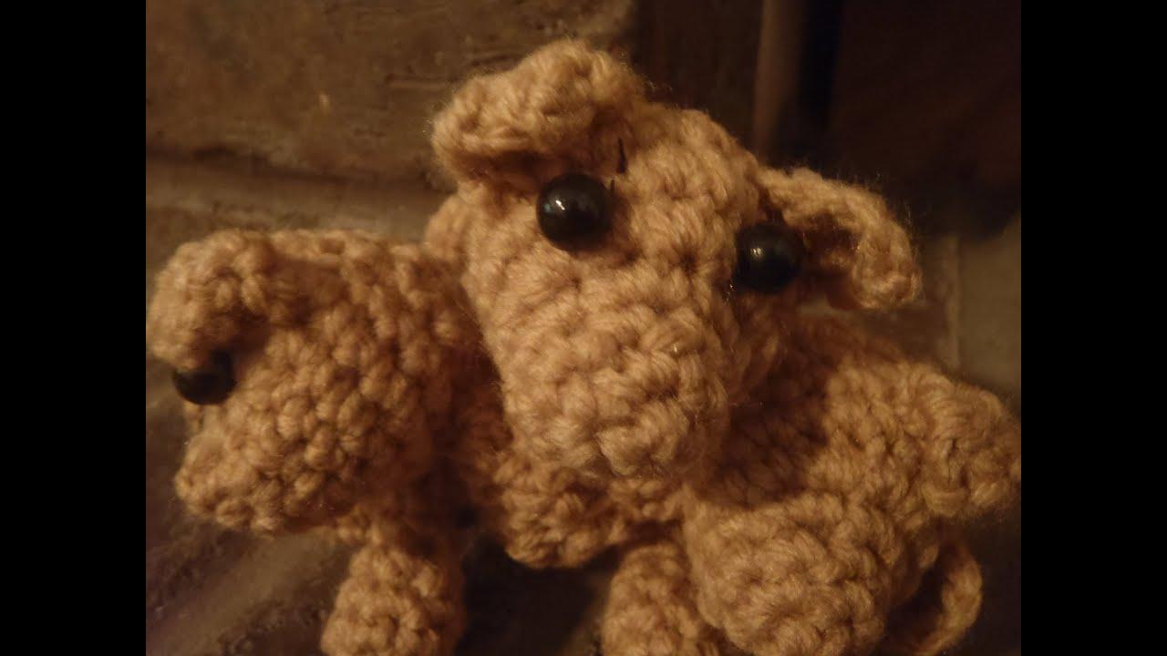 Crochet Three Headed Dog Cerberus Puppy