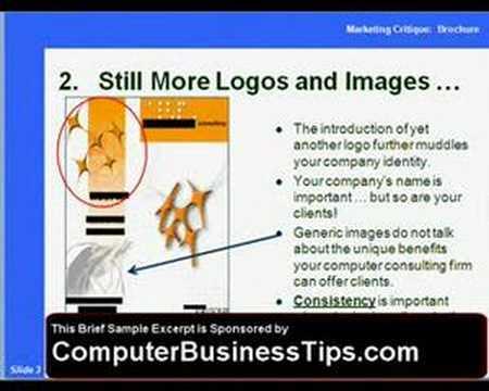 Computer Consulting Brochure Critique