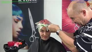 HOT SCISSOR and COLOR Long hairstyle Tutorial of Bianca by TKS