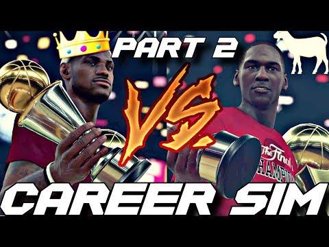 SIMULATING LEBRON JAMES VS. MICHAEL JORDAN'S NBA CAREERS ON NBA 2K18!! PART 2!!