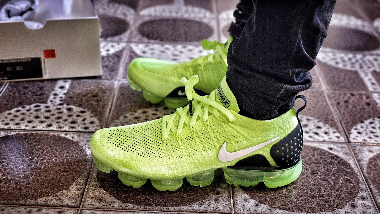 hot sale online 9d2ac 11e8d Nike Outlet Find: Nike Air VaporMax 2 Volt Sneaker Unboxing and On-Foot  Review