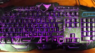gaming producer amazon ebay color changing led keyboard and mouse unboxing review tutorial