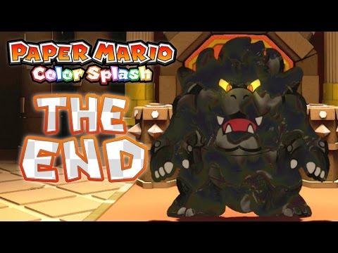 Paper Mario Color Splash Finale Black Bowsers Castle Black