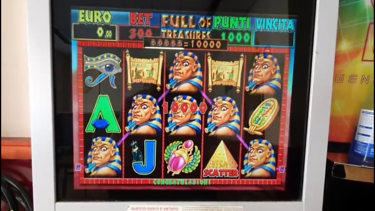 SLOT MACHINE DA BAR A MONETA TREASURES AL 65% OGNI TANTO SI VINCE MA NON ILLUDETEVI è UN EVENTO RARO
