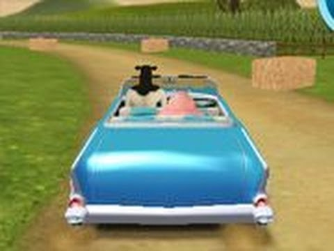 Playing Barn Yard Jersey Joyride - Car Games For Children To Play Online - Free Car Games