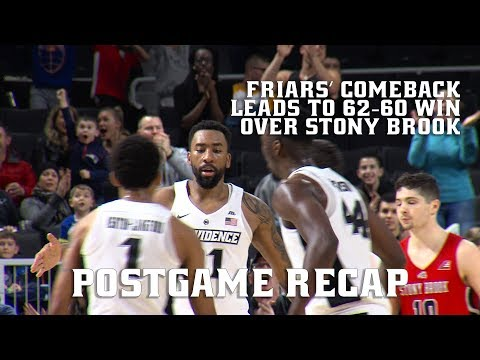 Men's Basketball vs. Stony Brook Postgame Recap