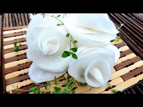 Art in radish flowers vegetable carving flower roses garnish art in radish flowers vegetable carving flower roses garnish party food decoration mightylinksfo