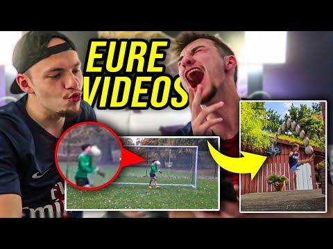 WIR REAGIEREN AUF EURE FUßBALL VIDEOS! *KRASSE TORE & FAILS*