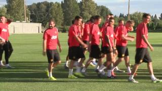 Entrenamiento Manchester United