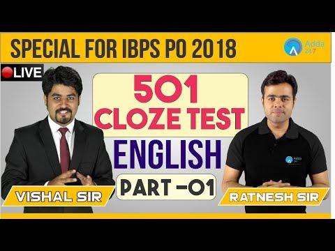 501 Cloze Test Part-1 | IBPS PO 2018 | English | Vishal Sir | 1 P.M