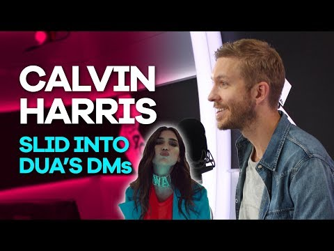 Calvin Harris slid into Dua Lipa's DMs and she totally ignored him