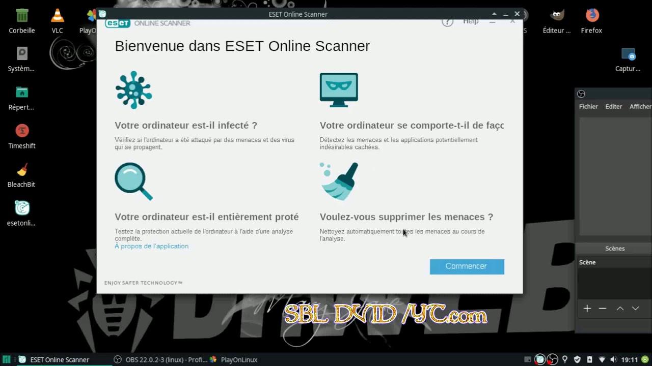 ESET online scanner Antivirus (sur Linux (FR