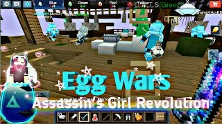 Blockman Go | Egg Wars | Playing with Diamond's Squad and Friends