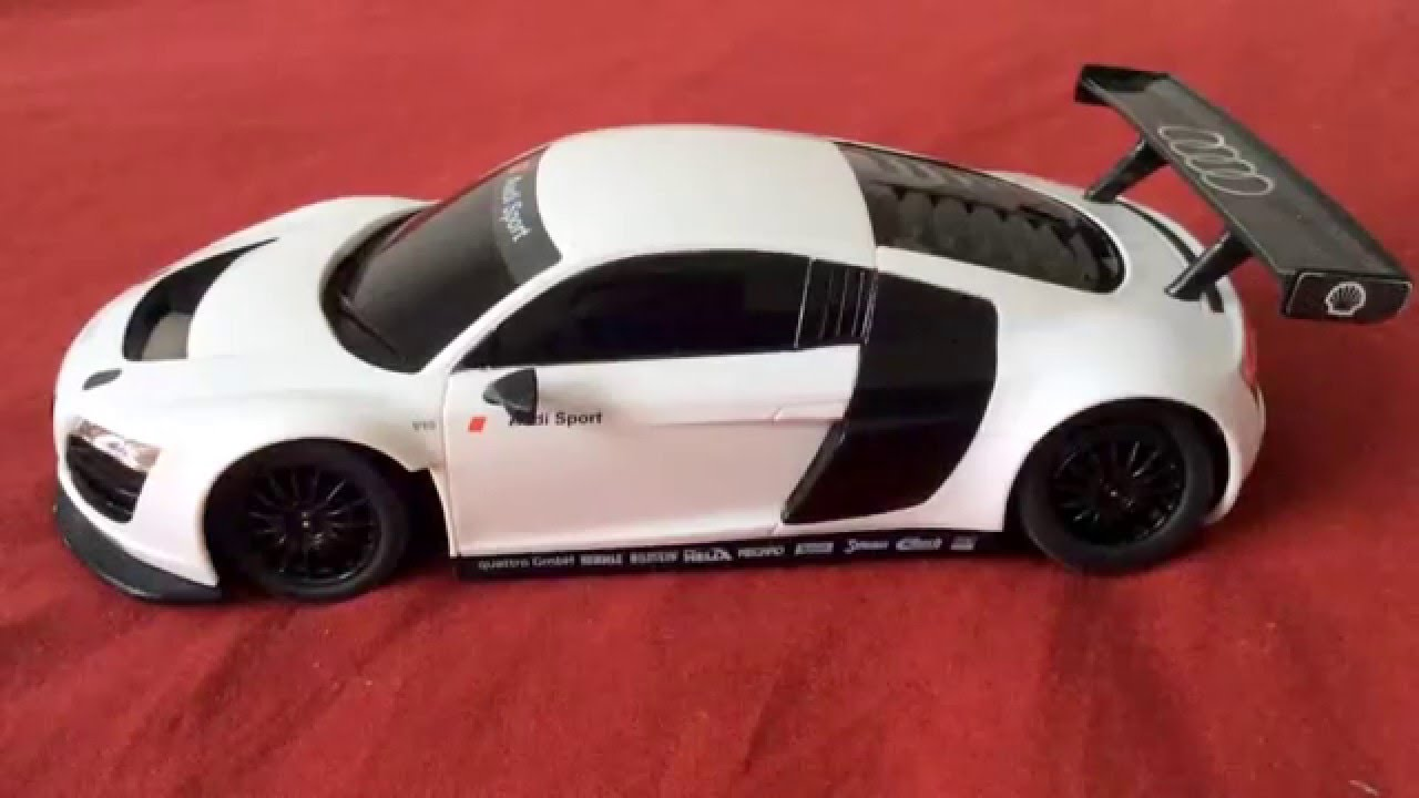 Unboxing Children S White Audi Sports Toy Car With Remote Control