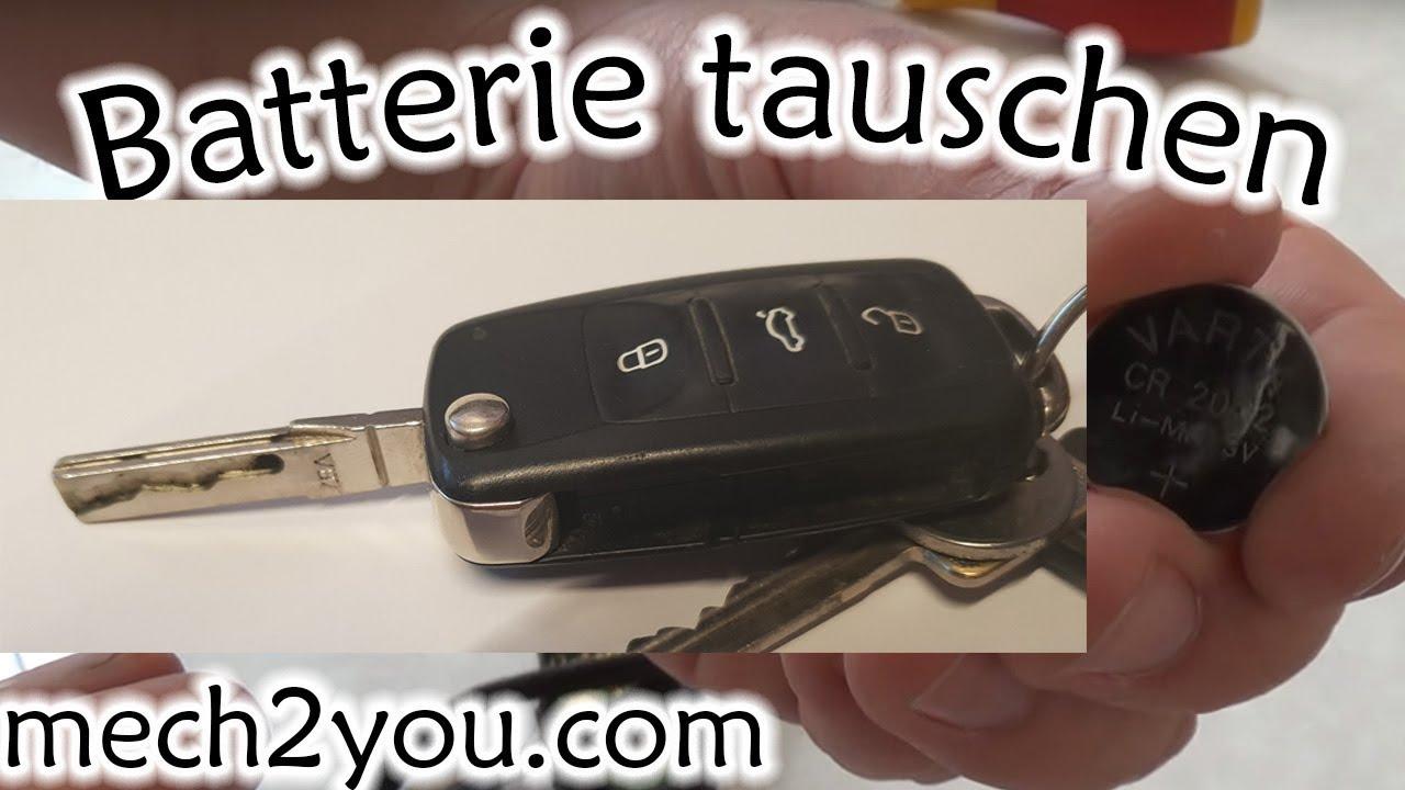 Batterie Vom Autoschlussel Tauschen Wechseln Skoda Vw Seat Audi Youtube