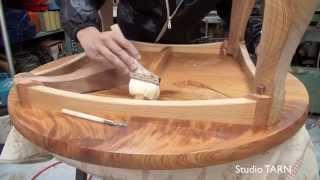 綾欅卓袱台:aya Keyaki Folding Table