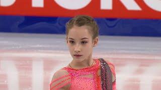 Софья Акатьева Короткая программа Первенство России по фигурному катанию среди юниоров 2021