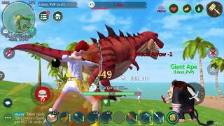 Game 3D Utopia Origin: US 701 Tame & Hunt T-Rex Level 45 with Bow and Sword Crystal | Set 40 + 35