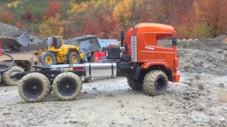 SCANIA AGRAR 6X6! MERCEDES AROCS 6X6 STUCK! HEAVY RC VEHICLES IN ACTION! BEST RC CONSTRUCTION SITE