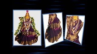 Varalakshmi Saree drapping How to drape Saree for Varalakshmi Varalakshmi Vratam Pooja Vidhanam 2018