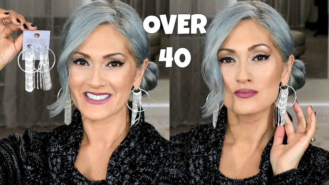 makeup gray silver hair giveaway