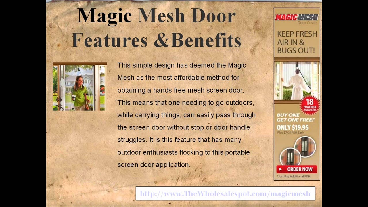 Magic Mesh The Instant Screen Door Solution For Any Location Youtube