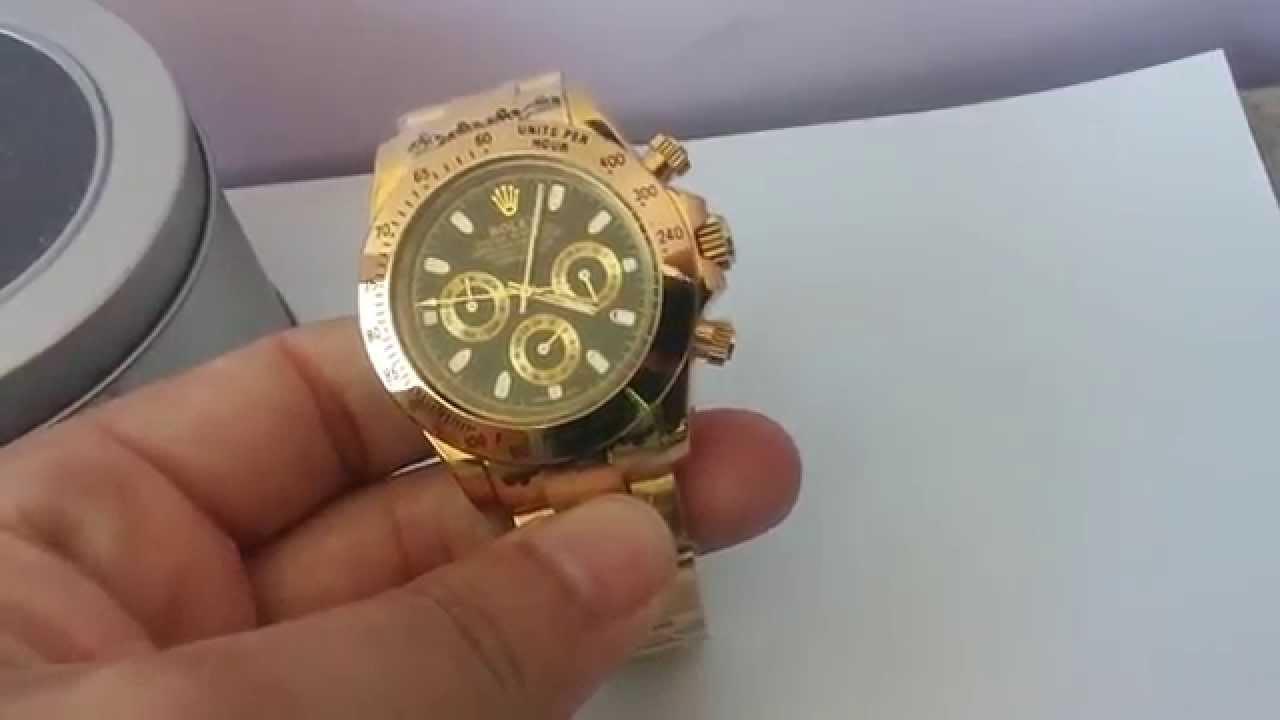 6cabac390a82d Relógio Automático Luxo Vidro Safira 40mm - Gold Masculino - YouTube