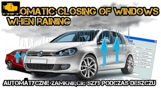VCDS Automatic closing of windows when rain detected - auto. zamykanie szyb podczas deszczu mk6