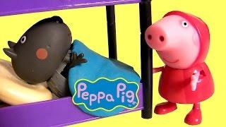 Brinquedos Porquinha Peppa Pig como Chapeuzinho Vermelho e Danny Cão Lobo Mau Baby Toys Era Uma Vez