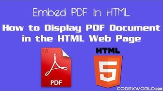 How to Embed PDF Document in HTML Web Page