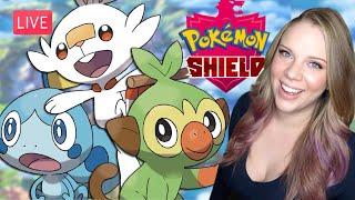 Pokémon Shield LIVE! CHOOSING MY STARTER! My First Impressions of SWSH