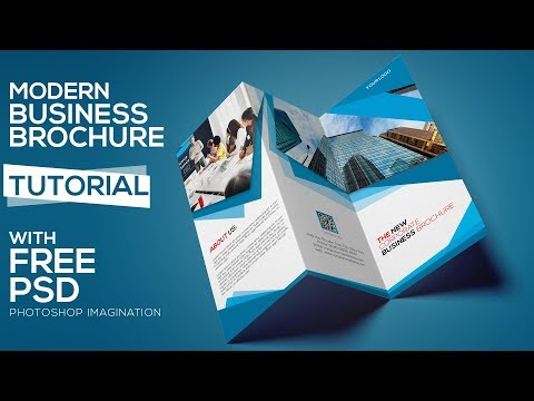 Create A Tri Fold Business Brochure Design | Photoshop Tutorial Part 1