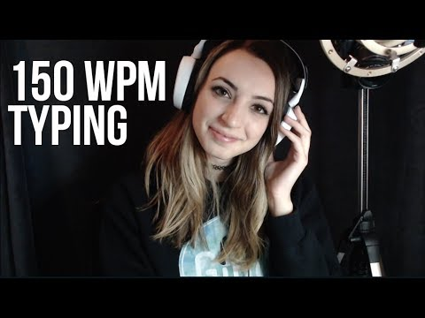 150 WPM TYPING TEST (ASMR?)
