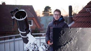 Moon through my Telescope (Live Video)
