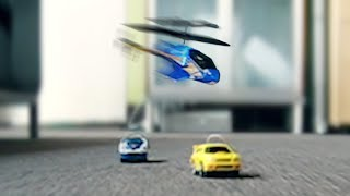 Cars vs Helicopter
