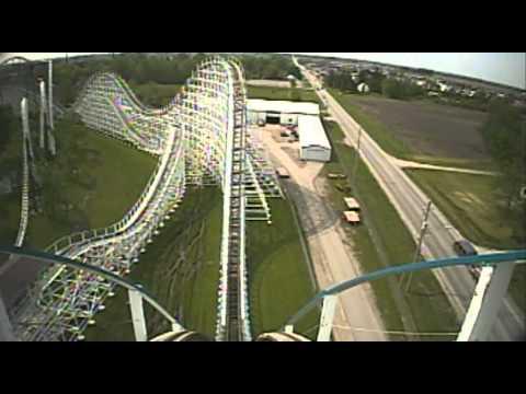 Tornado Wooden Roller Coaster Front Seat POV Adventureland Des Moines Iowa