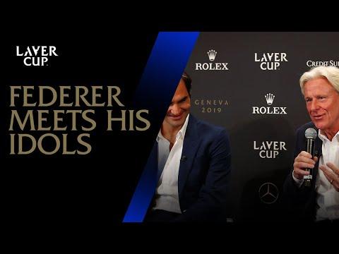 Federer Meets His Idols