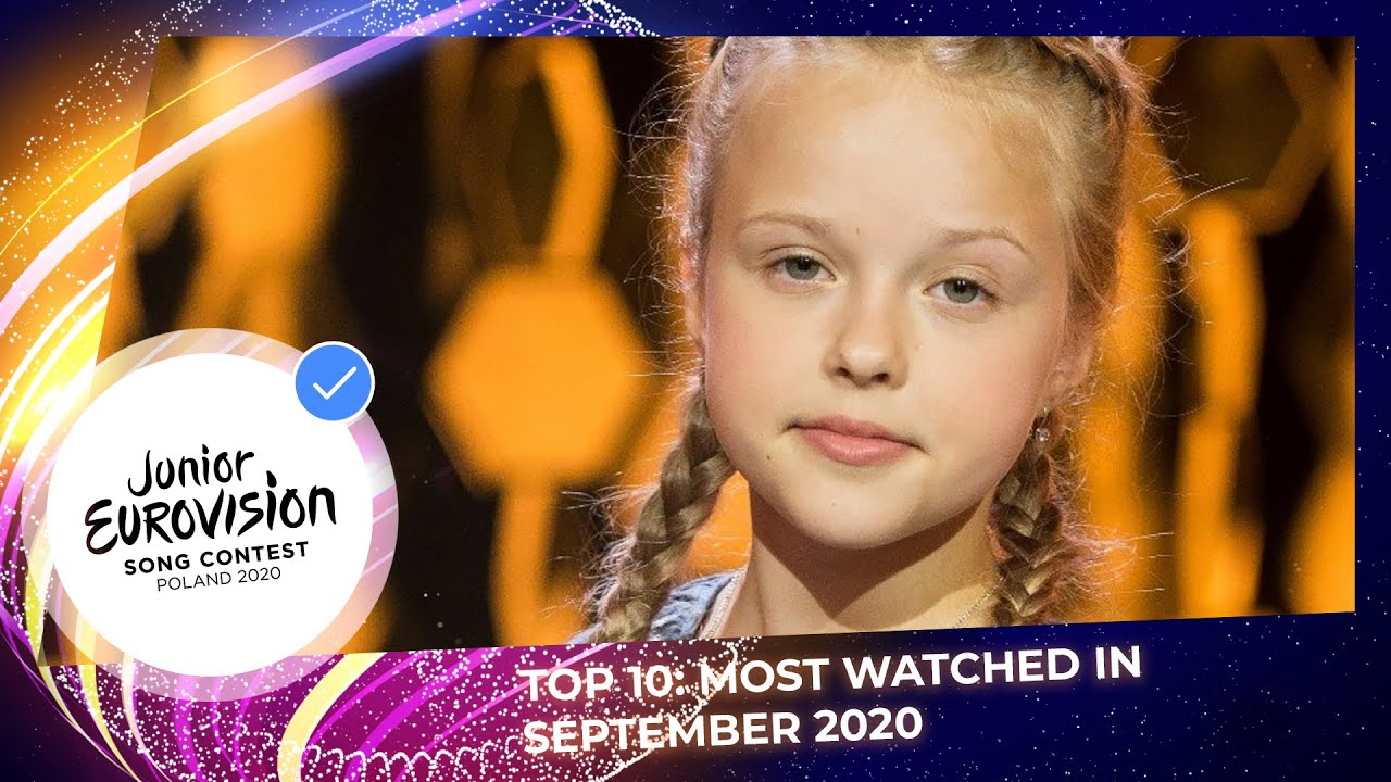 TOP 10 Most watched in September 2020 - Junior Eurovision Song Contest