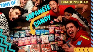 TRYING TONS OF WEIRD JAPANESE CANDY - DRAGONSQUAD TASTE TEST CHALLENGE REACTION