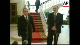 BELARUS: RUSSIAN PRESIDENT VLADIMIR PUTIN VISIT