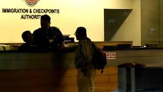 Blogger Mr. Gopalan Nair leaving Singapore Changi Airport