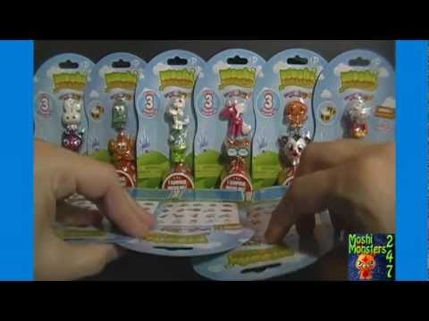 Opening 10 Moshi Monsters Moshlings US Figure 3-Packs Unboxing Series 1